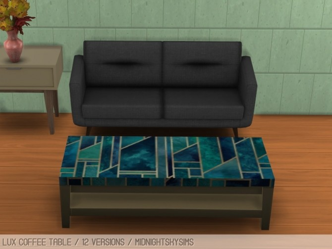 Sims 4 Lux coffee table at Midnightskysims