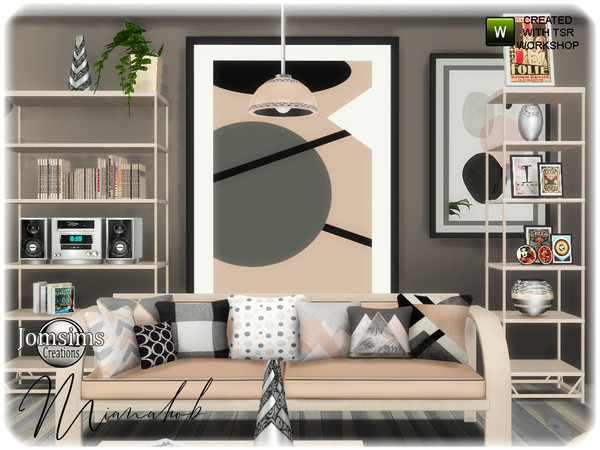 Sims 4 Mianahob living room part 2 by jomsims at TSR