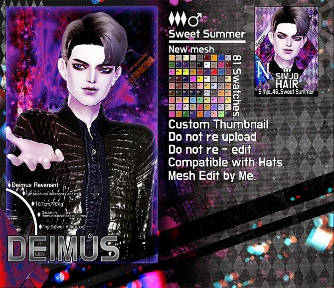 Sims 4 Simjo 46 Sweet Summer Hair at Kim Simjo