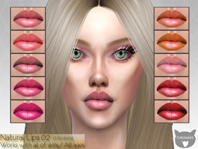 Sims 4 Natural Lips 02 by turksimmer at TSR