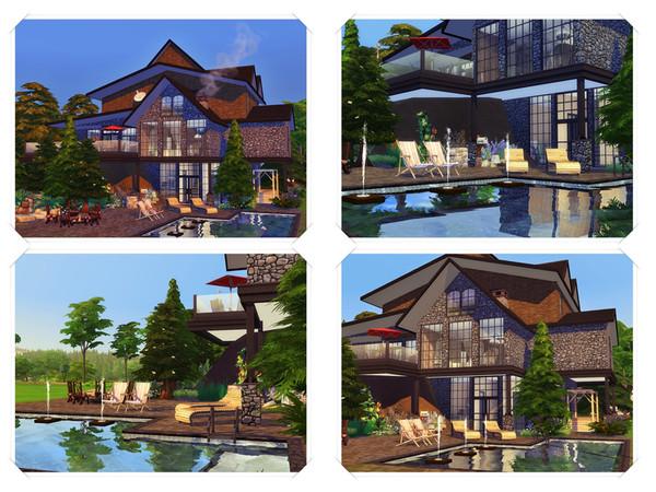 Sims 4 Senia modern house by marychabb at TSR