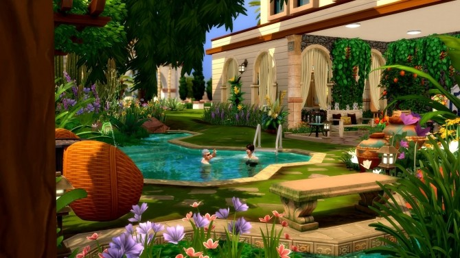 Sims 4 1 rue de lOasis house by chipie cyrano at L'UniverSims