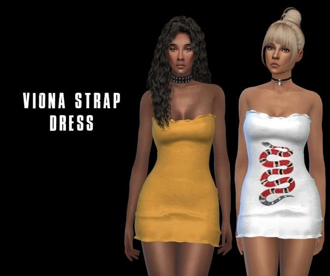 Sims 4 Viona Strap Dress at Leo Sims