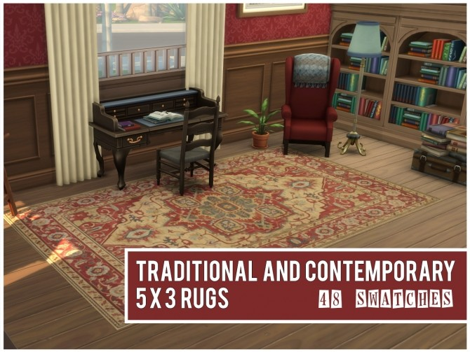 Sims 4 48 Traditional and Contemporary Rugs by sionelle at Mod The Sims