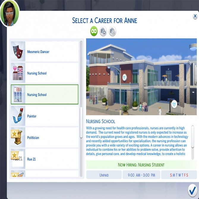 Sims 4 Nurse Career by MesmericSimmer at Mod The Sims
