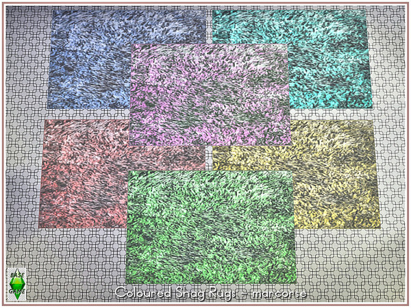 Coloured Shag Rugs by marcorse at TSR image 1050 Sims 4 Updates