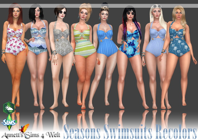 Seasons Swimsuits Recolors at Annett's Sims 4 Welt image 10513 Sims 4 Updates
