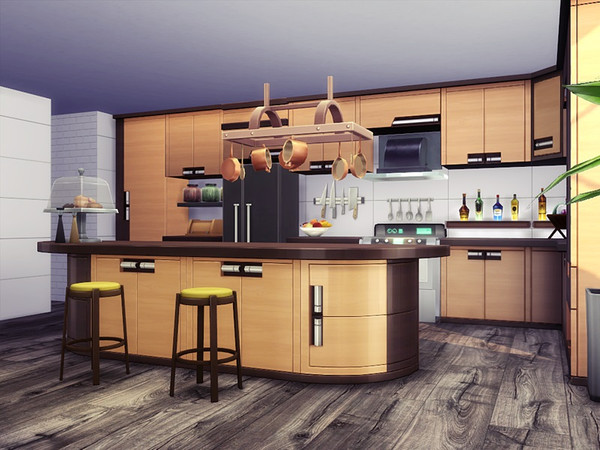 Sims 4 Maya modern house by marychabb at TSR