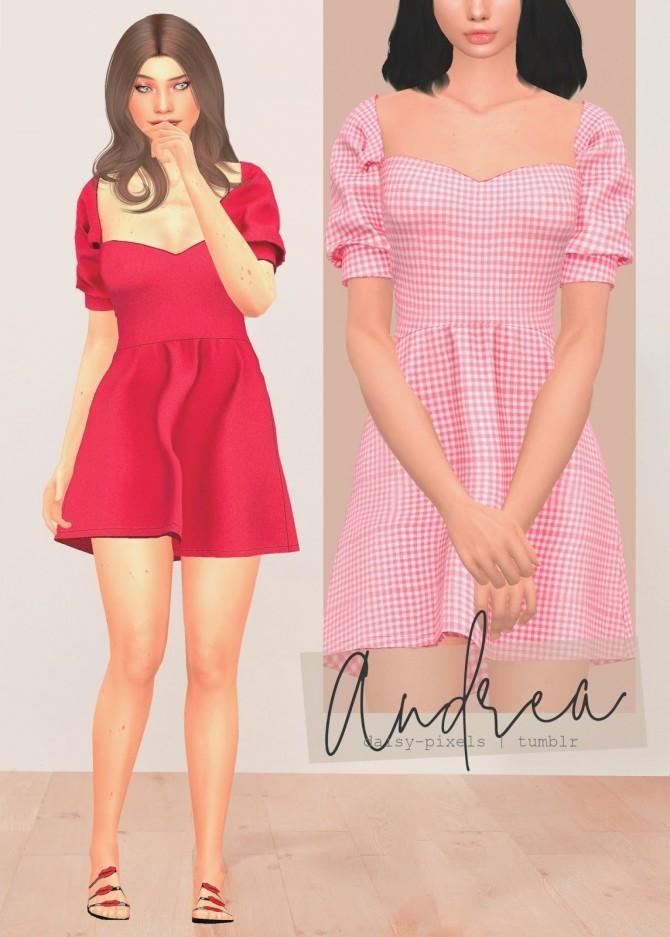 Sims 4 Andrea Dress at Daisy Pixels