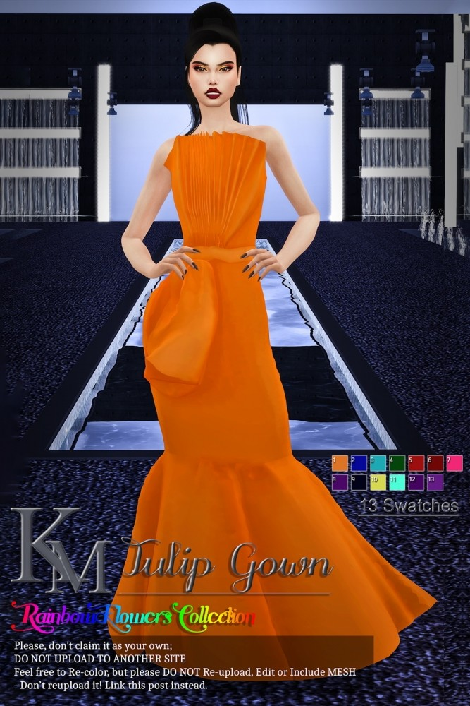 Tulip Gown by Katarina at KM image 1085 667x1000 Sims 4 Updates