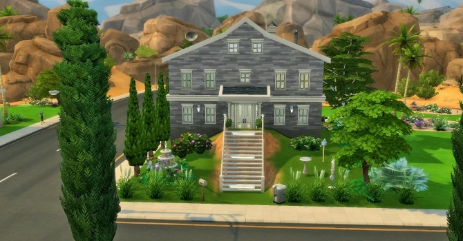 Two story home on hill by heikeg at Mod The Sims image 1091 670x350 Sims 4 Updates