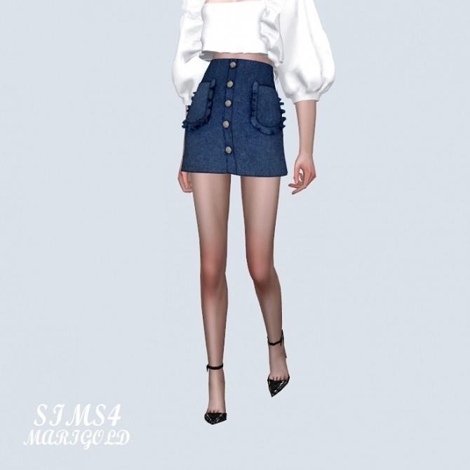 Frill Pocket Mini Skirt (P) at Marigold image 10912 670x670 Sims 4 Updates