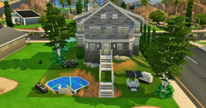 Two story home on hill by heikeg at Mod The Sims image 1101 670x350 Sims 4 Updates