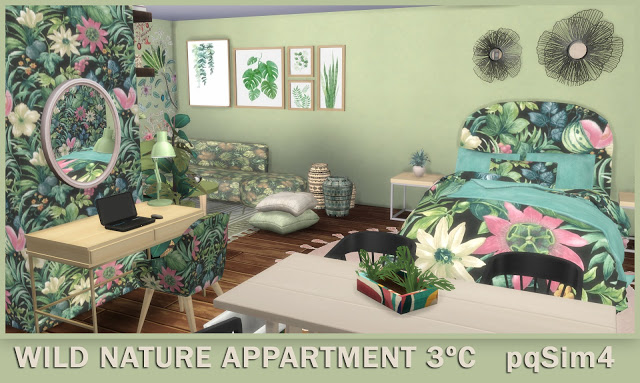 Sims 4 3º C Wild Nature Apartment at pqSims4