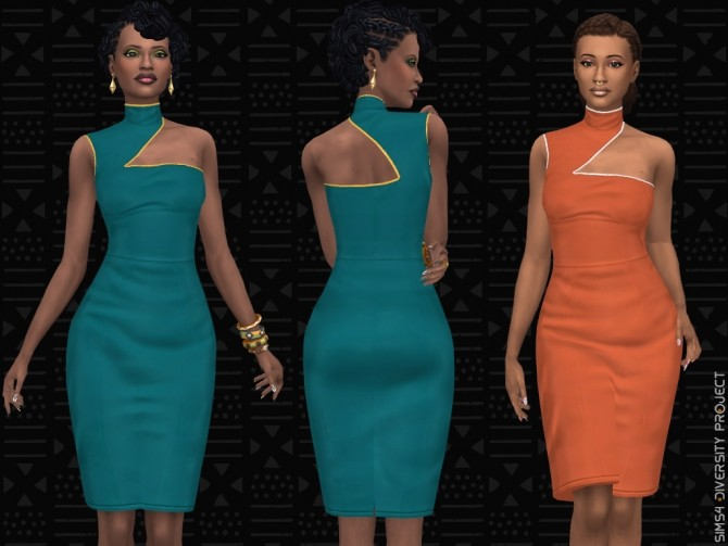 Sims 4 African executive clothing set at Sims 4 Diversity Project