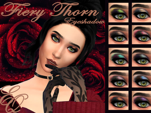 Sims 4 Fiery Thorn Eyeshadow by EvilQuinzel at TSR