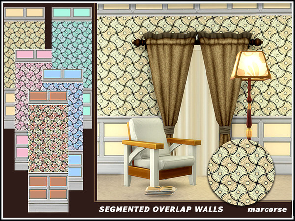 Segmented Overlap Walls by marcorse at TSR image 1105 Sims 4 Updates