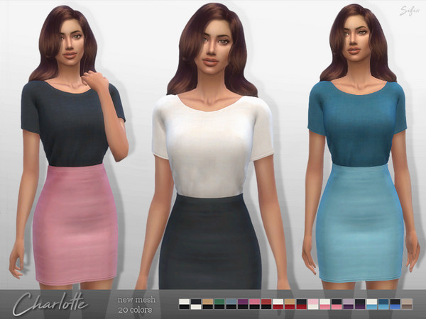 Sims 4 Charlotte Outfit by Sifix at TSR