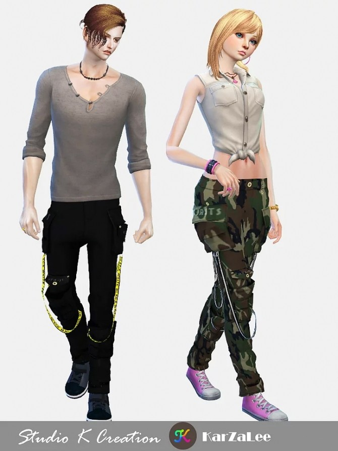 Multi Pocket Pants at Studio K Creation image 1118 670x893 Sims 4 Updates