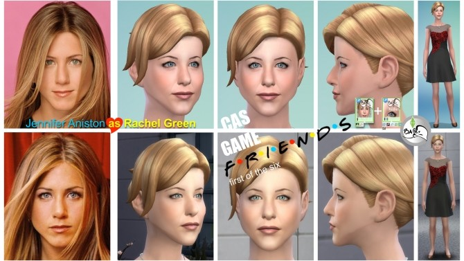 Sims 4 Rachel Green   FRIENDS by bakalia at Mod The Sims