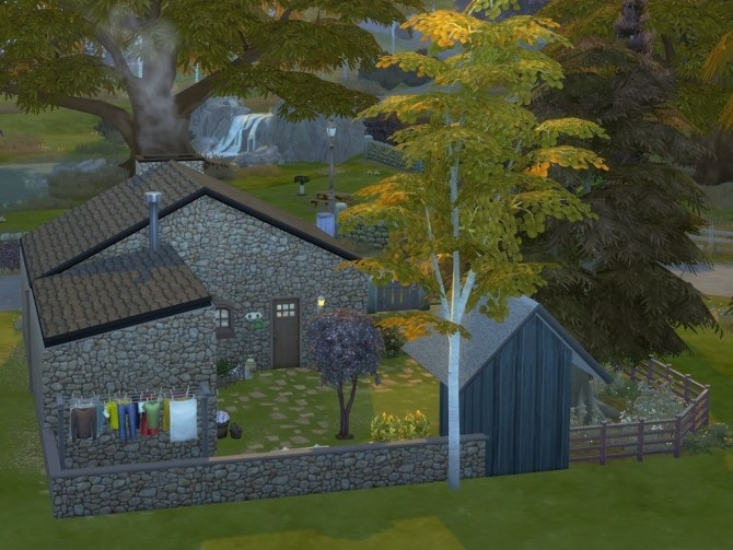 Sims 4 Pine Cottage at KyriaT's Sims 4 World
