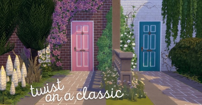 Sims 4 Twist on a Classic Door at Hamburger Cakes