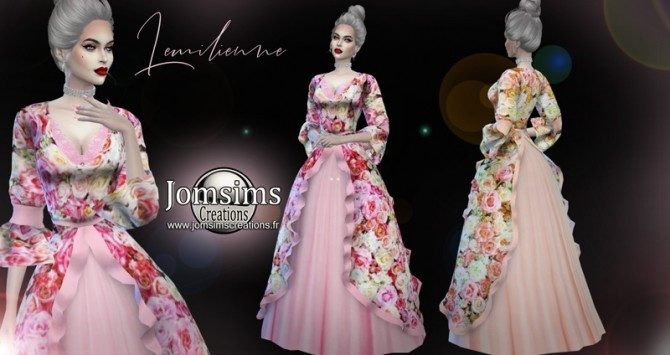 Lemilienne dress at Jomsims Creations image 1144 670x355 Sims 4 Updates