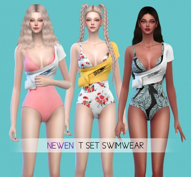 Halter Neck & T set swimsuits at NEWEN image 11512 670x620 Sims 4 Updates