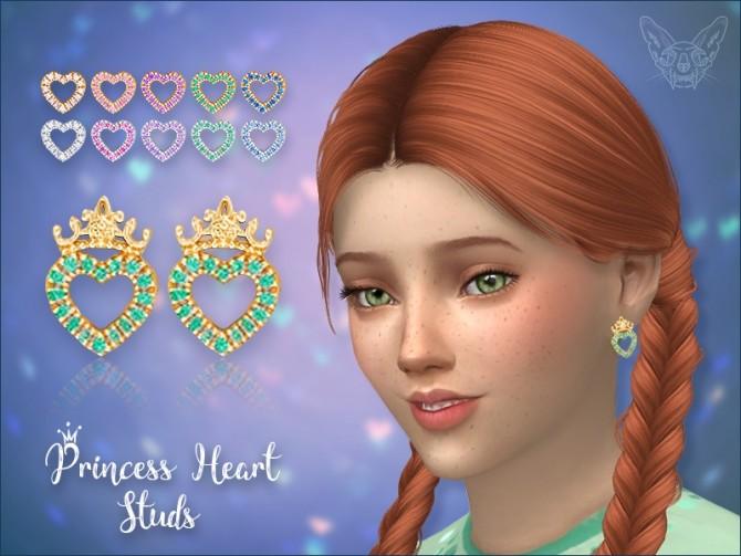 Sims 4 Princess Heart Studs For Kids at Giulietta