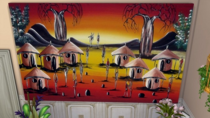 Dreams of Africa paintings at Paradoxx Sims image 11610 670x377 Sims 4 Updates