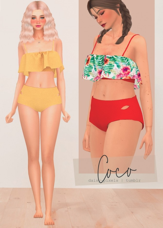Sims 4 Coco Swimsuit Set at Daisy Pixels