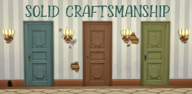 Solid Craftsmanship Door at Hamburger Cakes image 1167 670x330 Sims 4 Updates