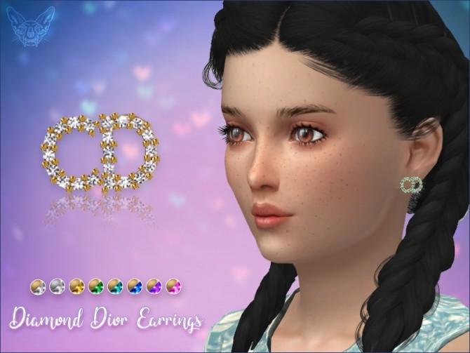 Sims 4 Diamond stud Earrings For Kids at Giulietta