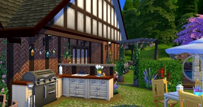 Sims 4 CAMPAGNOLE house by Coco Simy at L'UniverSims