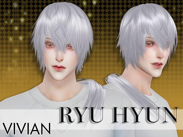 Sims 4 Hair Ryu Hyun by VivianDang at TSR