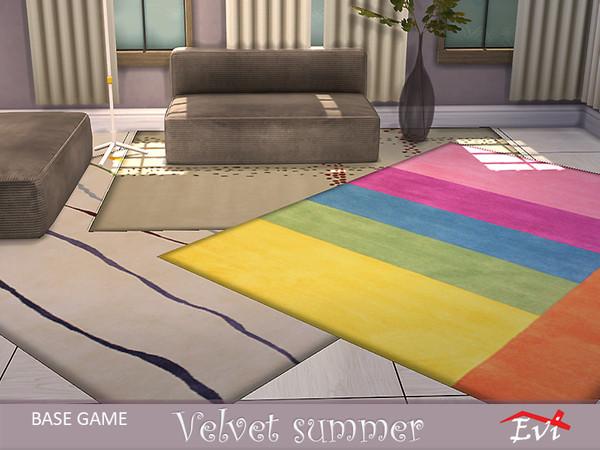 Sims 4 Velvet summer rugs by evi at TSR