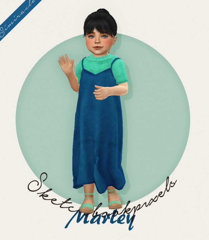 Sims 4 Sketchbookpixels Marley 3T4 dress for toddlers at Simiracle