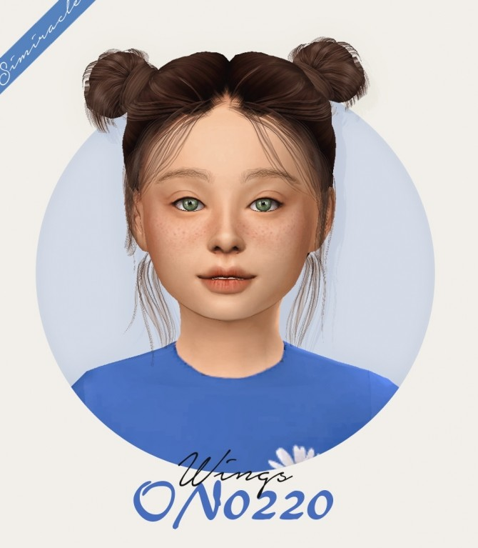 Sims 4 Wings ON0220 Hair Kids Version at Simiracle