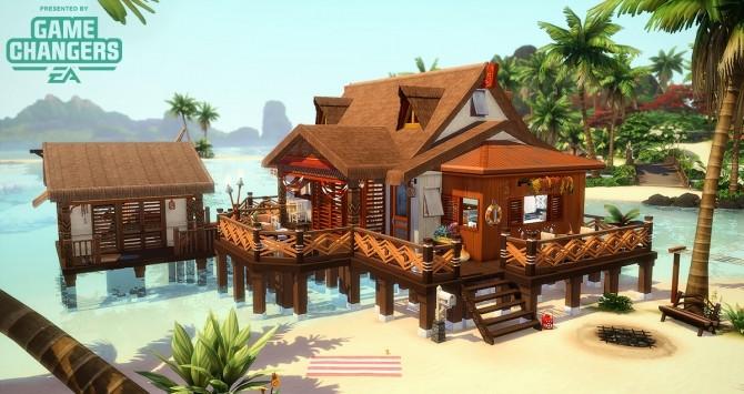 Paradis Flottant house at Simsontherope image 1248 670x355 Sims 4 Updates