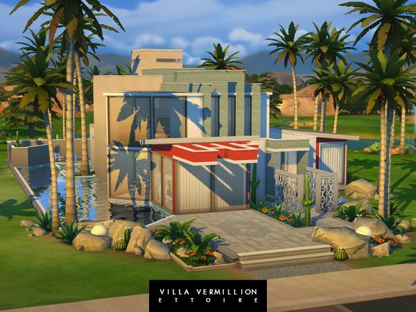 Sims 4 Villa Vermillion by Ettoire at TSR