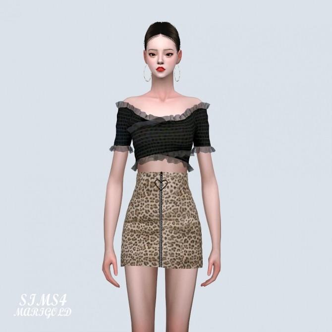 Sims 4 Lily Frill Off Shoulder Blouse (P) at Marigold