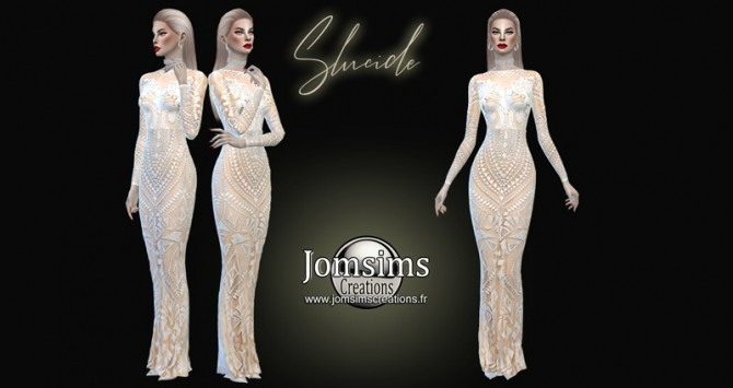 Sims 4 Slucide dress at Jomsims Creations