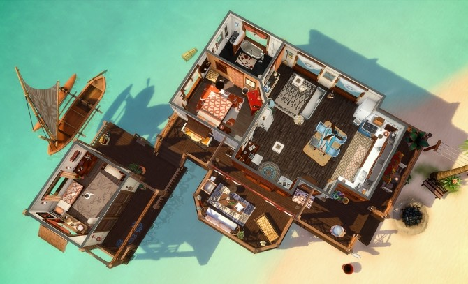 Paradis Flottant house at Simsontherope image 1298 670x407 Sims 4 Updates