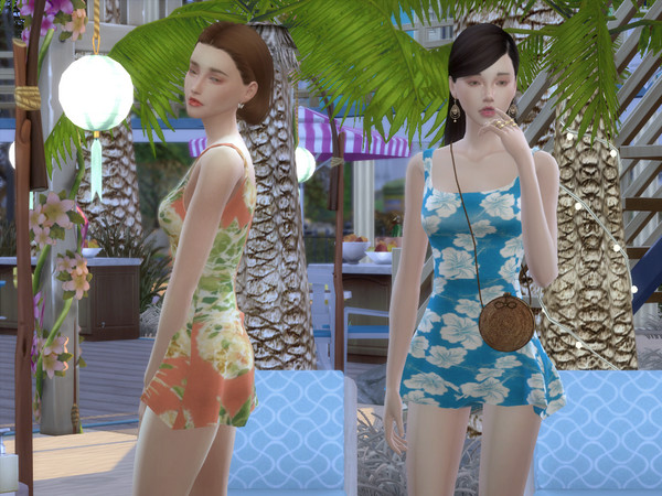 Vacation Dress by LIAASIMS at TSR image 1300 Sims 4 Updates