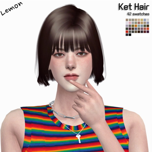Sims 4 Ket Hair at Lemon Sims 4
