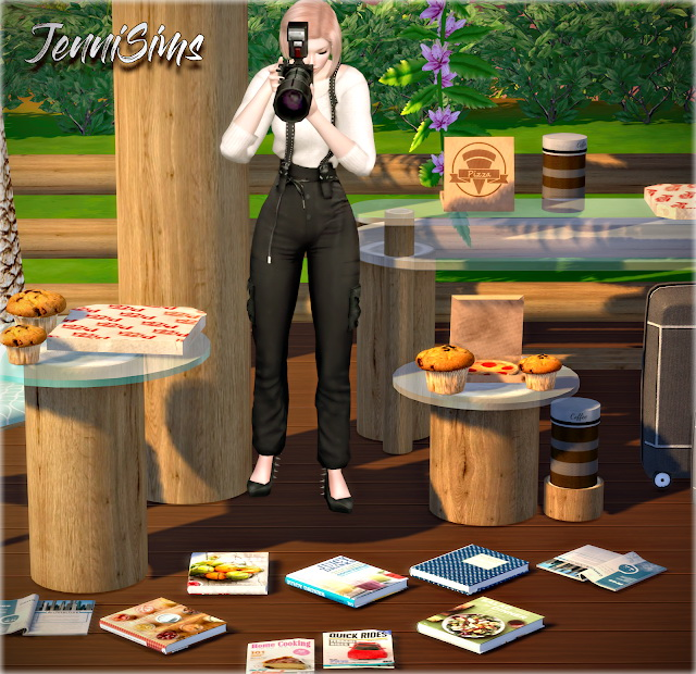 Sims 4 Summer Day set Clutter 8 Items at Jenni Sims