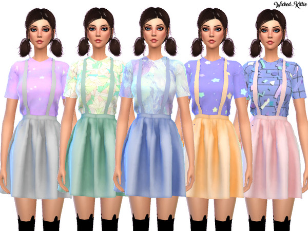 Kawaii Suspender Dress by Wicked Kittie at TSR image 1310 Sims 4 Updates