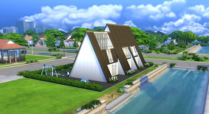 Pyramide House by valbreizh at Mod The Sims image 13119 670x365 Sims 4 Updates