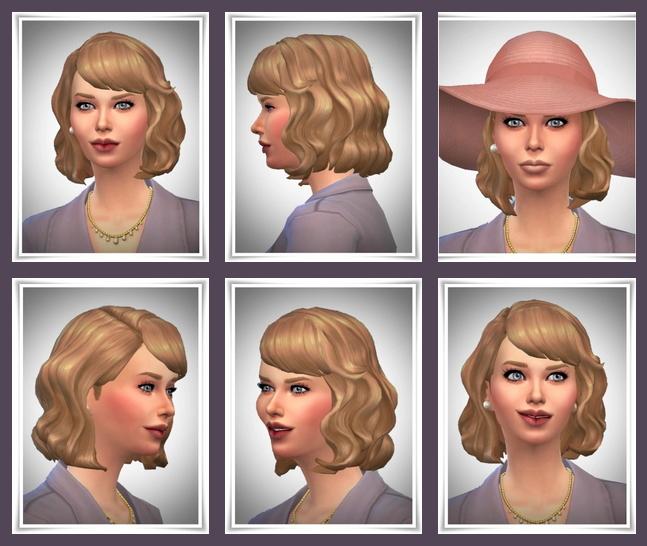 Sims 4 Vintage Waves hair at Birksches Sims Blog