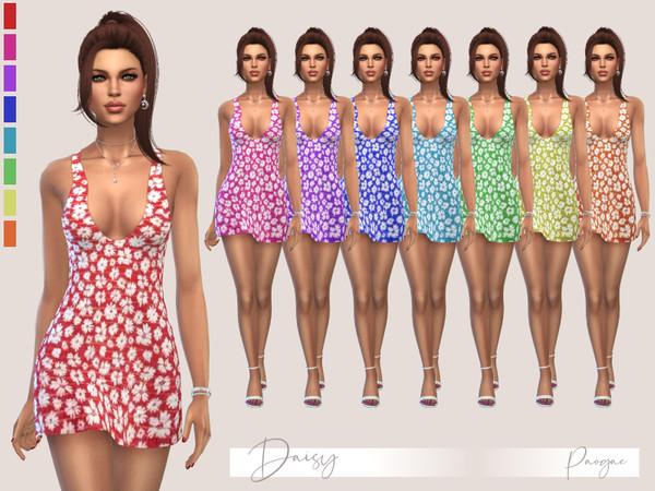 Sims 4 Daisy dress by Paogae at TSR